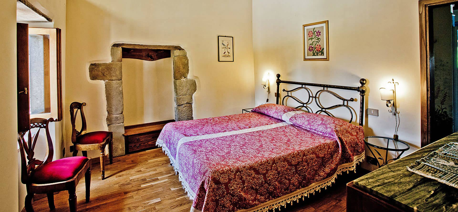 Camera matrimoniale appartamento Casina