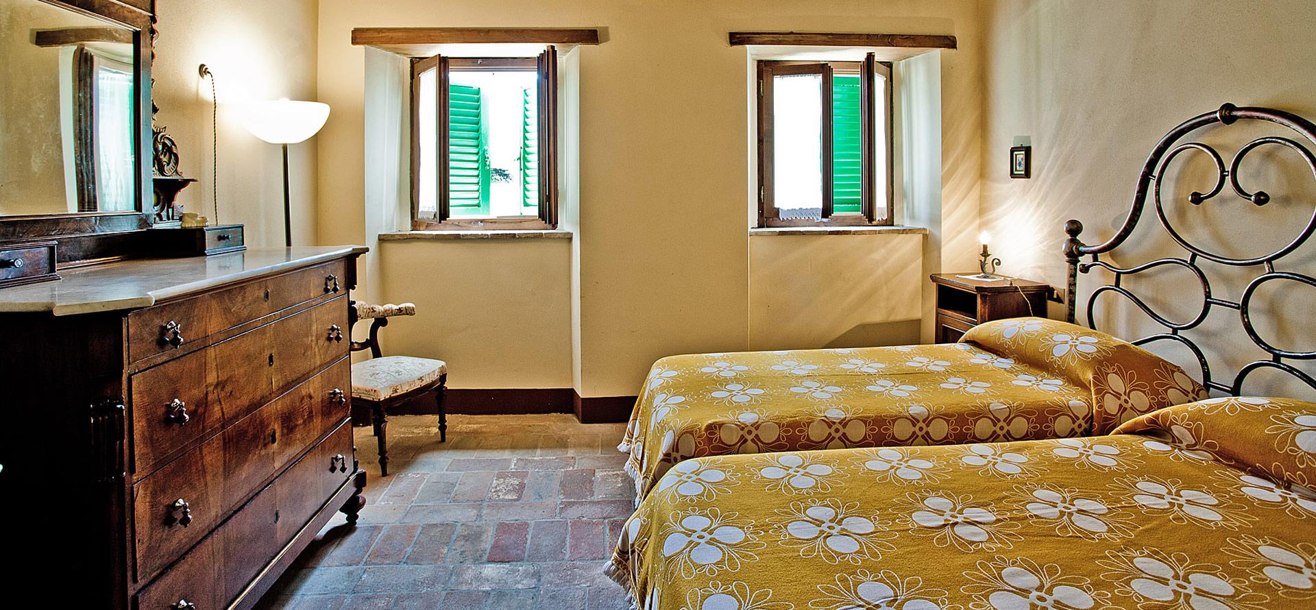 Camera matrimoniale appartamento Granaio