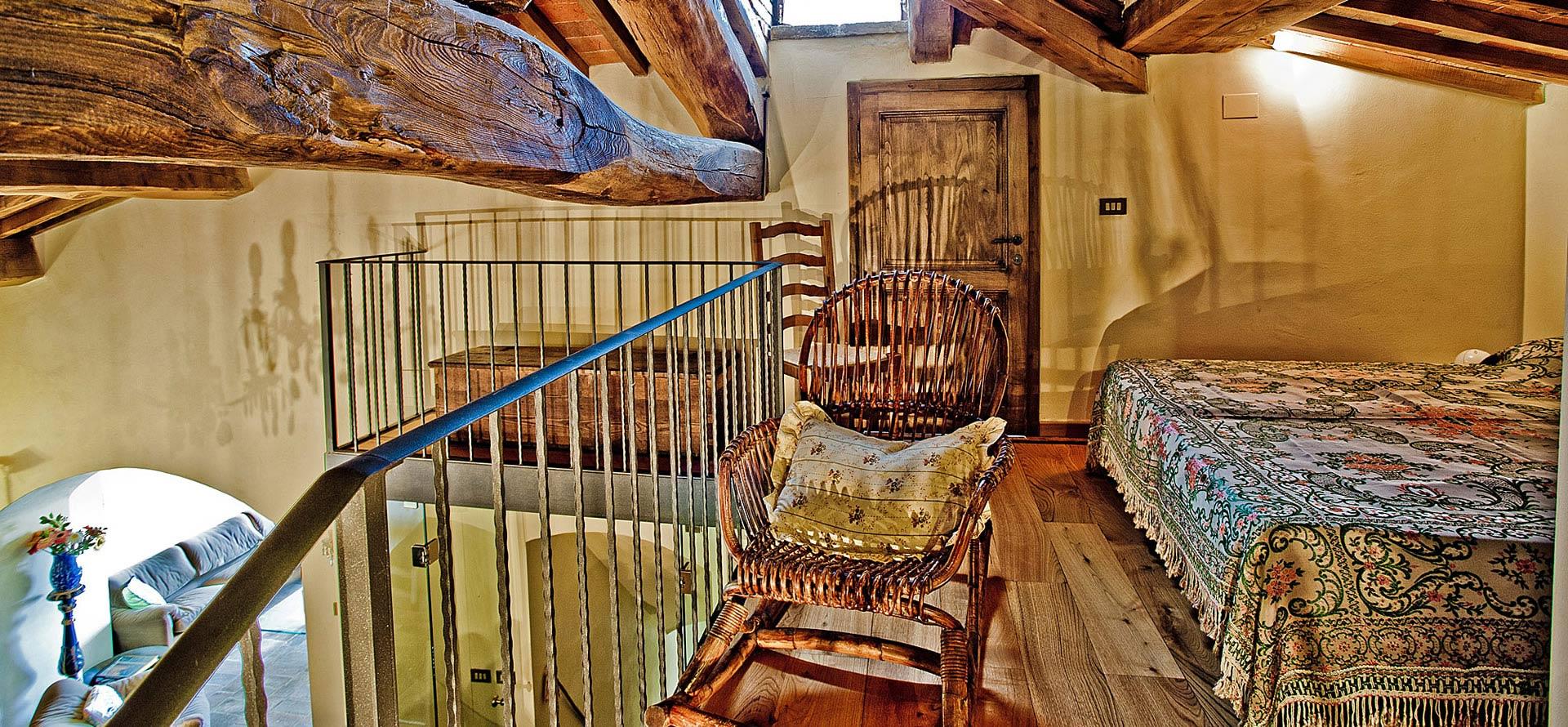 Soppalco appartamento in affitto Mirolago vacanza in Toscana