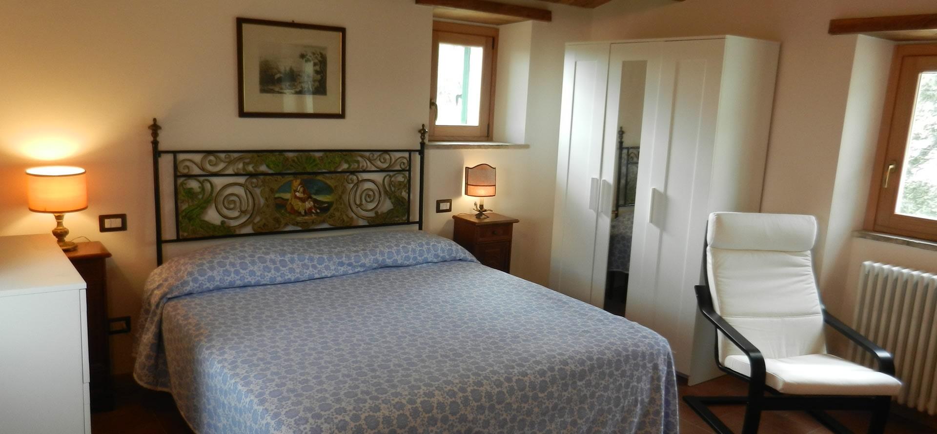 Camera matrimoniale appartamento Olivo