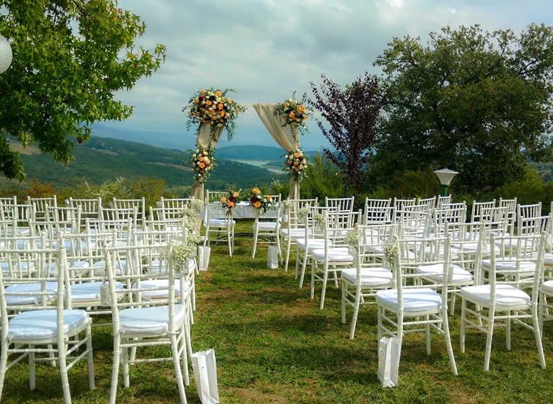 Celebrazione matrimonio civile Terrazza panoramica Terra di Michelangelo
