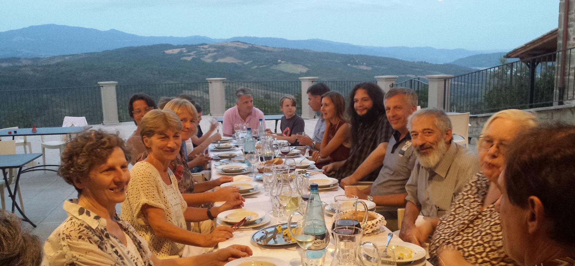 Cena terrazza panoramica Toscana