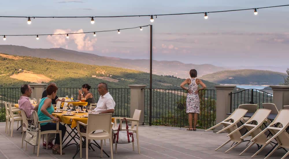 Terrazza panoramica ristorante