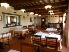 il ristorante dell'agriturismo, specialità Cinta Senese