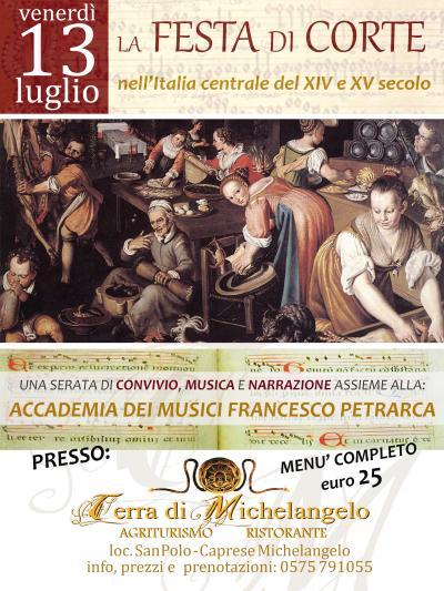 13 luglio: La FESTA di CORTE nell'Italia centrale del XIV e XV secolo